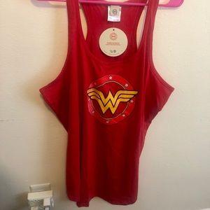 Plus size Wonder Woman razor back tank top